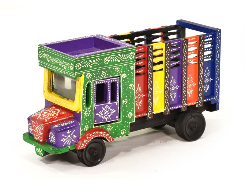 Kamion z Radžastánu, ručně malovaný, 37x13x21cm