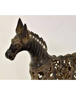 "Socha koně ""Tribal Art"", kov, 31x10x35cm"