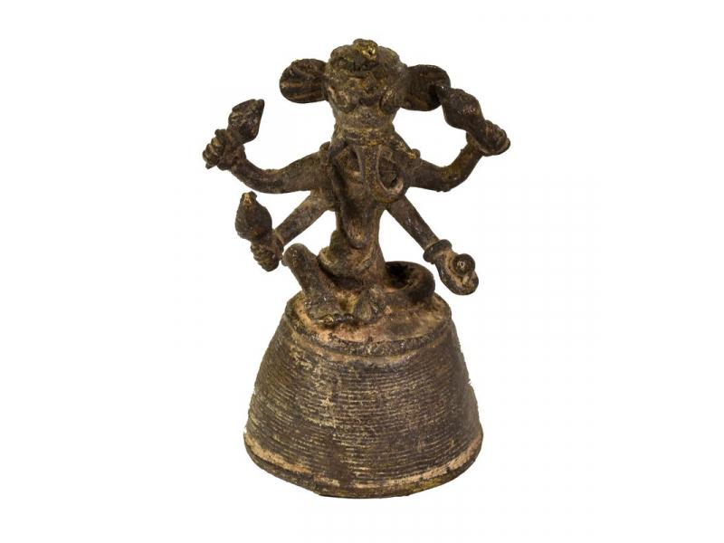 Ganeš, mosazná soška, tribal art, 7cm