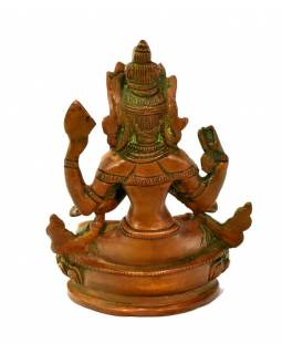 Avalokitešvara, mosazná soška, měděná patina, 10x7x14cm