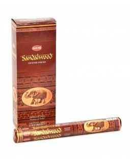 Indické vonné tyčinky Sandalwood, HEM, 23cm, 20ks