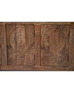 Komoda z mangového dřeva, ručně vyřezávaná, 123x40x74cm