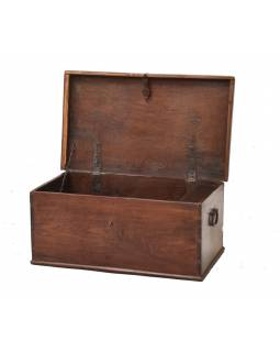 Stará truhla z teakového dřeva, 70x41x30cm