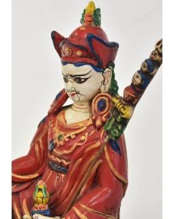Guru Rinpoche sedící na lotosovém trůnu, keramika, 11x12x22cm