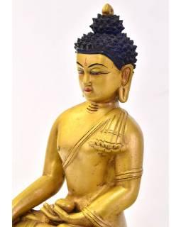 Buddha Šákyamuni, zlatý, keramická socha, ruční práce, 32cm