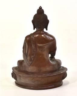 Buddha Šakjamuni, kovová soška, 10x7x15cm