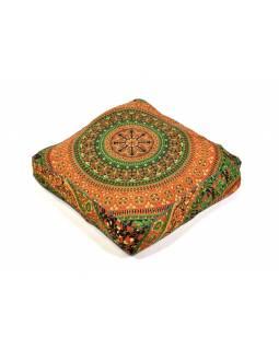 Meditační polštář, čtverec, 55x55x10cm