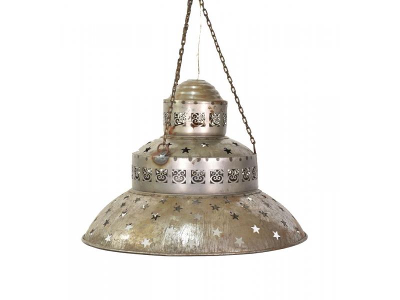 Kovová lampa v orientálním stylu, rez, 48x48x38cm