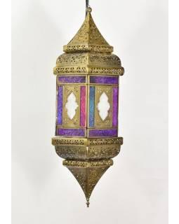 Arabská lampa, multibarevná, mosaz, ruční práce, 13x13x50cm