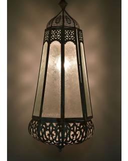 Arabská lampa, bílá patina, ruční práce, 33x33x78cm