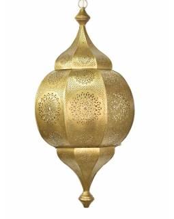 Orientální lampa s jemným vzorem, zlatá, uvnitř zlatá, 30x30x63cm