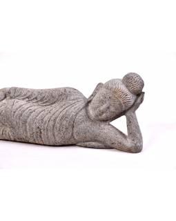 Kamenná socha, ležící Buddha, žula, 68x8x22cm