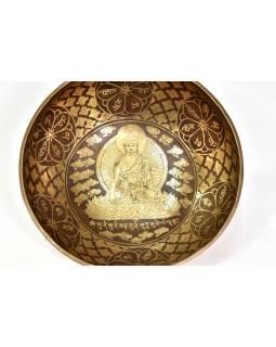 """Tibetská mísa, """"Gulpa"""", gravírovaná s designem, průměr 13cm"""
