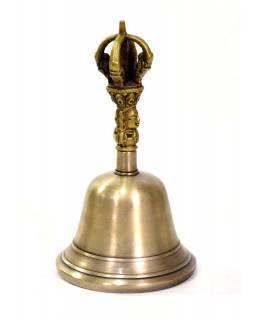 Zvonec, držadlo ve tvaru dorje, 10x10x17cm