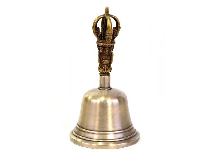 Zvonec, držadlo ve tvaru dorje, 8x8x15cm