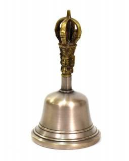Zvonec, držadlo ve tvaru dorje, 7x7x14cm
