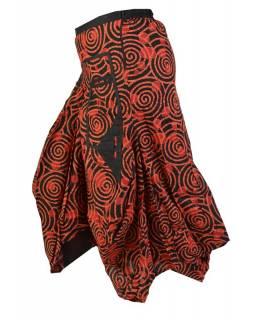 Dlouhá balonová sukně se spirálami, červeno-černá