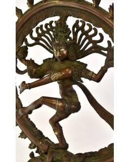Soška Śiva Natarádža, mosaz, deailní práce, 29x10x36cm
