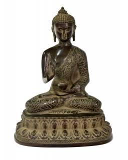 Buddha Amoghasiddhi, mosazná soška, 20x12x27cm