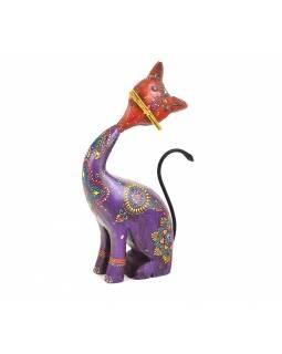 Soška kočky, ručně malovaná, 18x7x29cm
