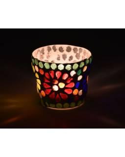 Lampička, skl.mozaika, kónická, průměr 7cm, výška 5,5cm