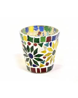 Lampička, skl.mozaika, kónická, průměr 7cm, výška 8cm