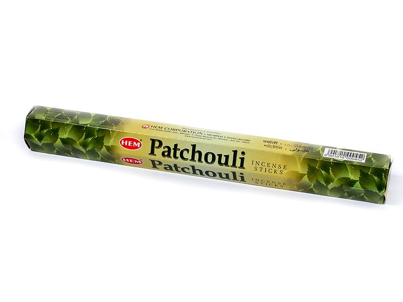 Indické vonné tyčinky Patchouli, 23cm, 45g, 20ks