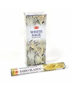 Indické vonné tyčinky bílá šalvěj, HEM, 23cm, 20ks