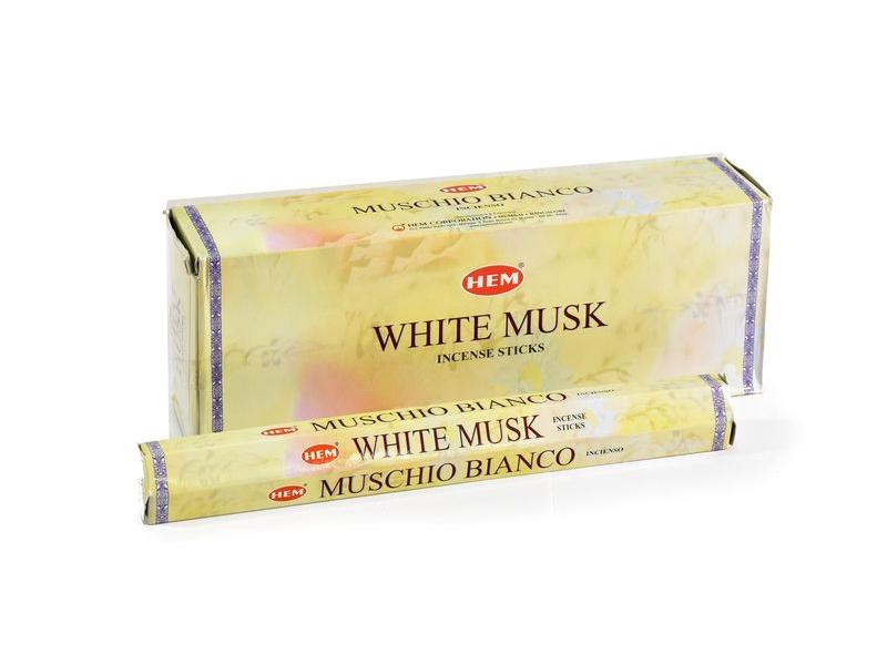 Vonné tyčinky, White musk, HEM, hexa, 20ks