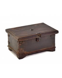 Stará truhlička z teakového dřeva, 25x17x13cm