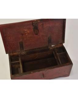 Stará truhlička z teakového dřeva, 40x20x16cm