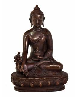 "Soška ""Medicin Buddha"", sedící, 14cm, měď"