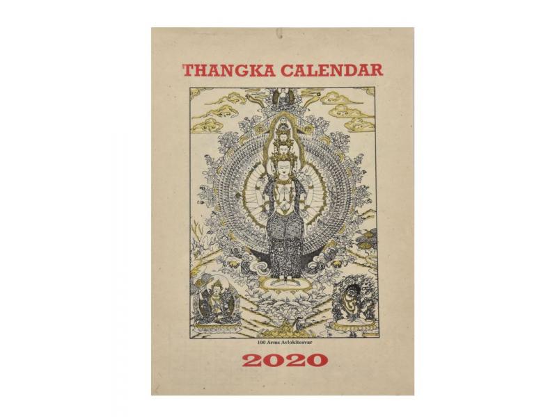 Kalendář na rok 2020 ručně tisklý na rýžovem papíru, 23x30cm
