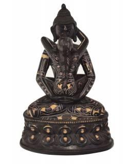 Buddha Shakti, pryskyřice, ručně výřezávaný, 20cm