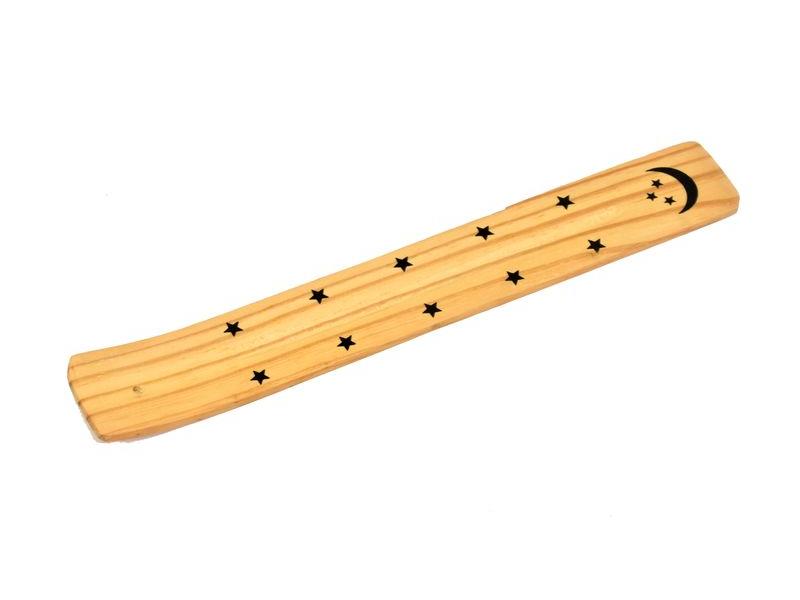 Stojánek na vonné tyčinky, měsíc,dřevo, 26cm