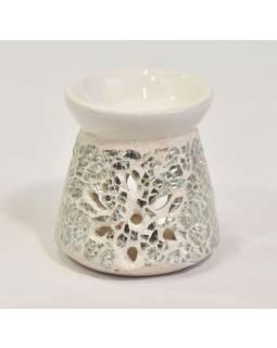 Aromalampa keramická, zdobená skleněnou mozaikou