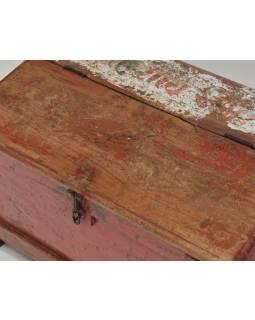Starý kupecký stolek z teakového dřeva, 60x37x39cm