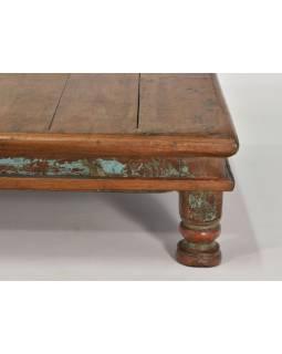 Čajový stolek z teakového dřeva, 52x52x15cm