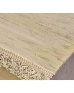 Knihovna z teakového a mangového dřeva, 183x45x105cm