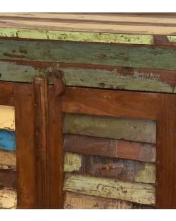 """Skříň z teakového dřeva v """"Goa"""" stylu, 77x47x125cm"""