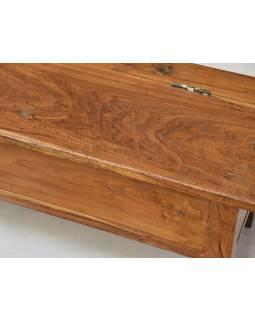 Stará školní lavice s úložným prostorem a kalamáři, 183x37x37cm