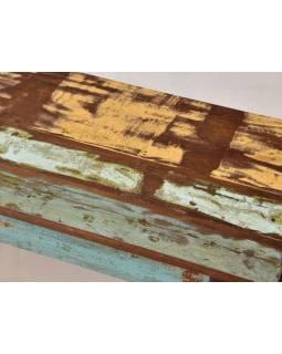 """Lavice z teakového dřeva v """"Goa"""" stylu, 206x40x46cm"""