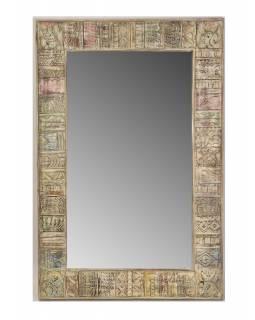 Zrcadlo v rámu z mangového dřeva, 138x5x91cm