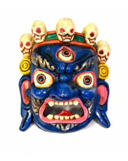 Dřevěná maska, Bhairab, ručně malovaný, 23x26cm
