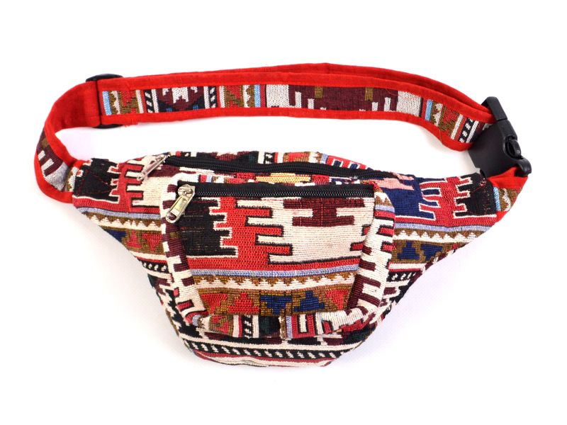 Ledvinka, pestrobarevná vzor aztec, 30x18cm