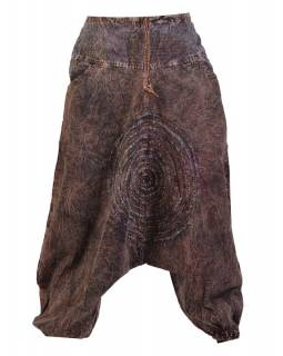 Unisex turecké kalhoty  s kapsami, stonewashed design
