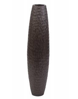 Váza z palmového dřeva, průměr 20cm, výška 82cm