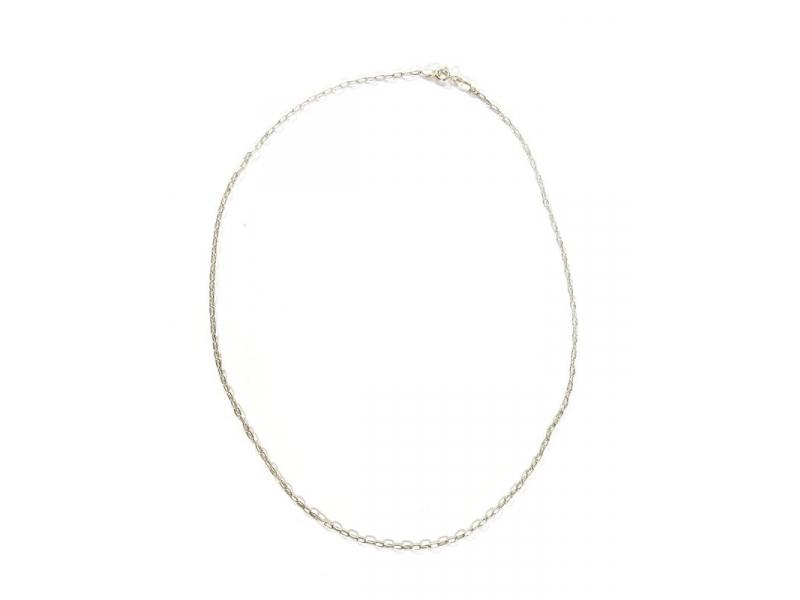 Stříbrný řetízek, karabinka, délka cca 41cm,AG 925/1000