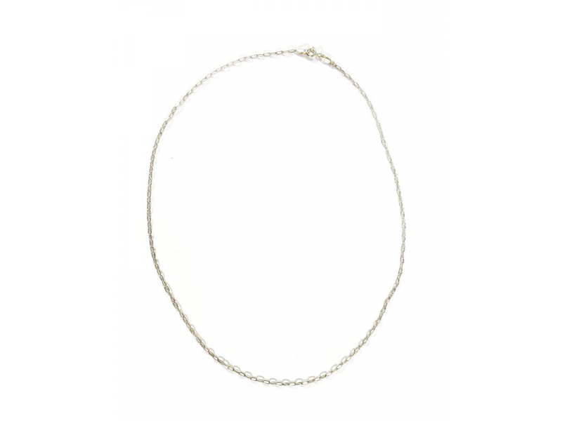 Stříbrný řetízek, karabinka, délka cca 46cm,AG 925/1000