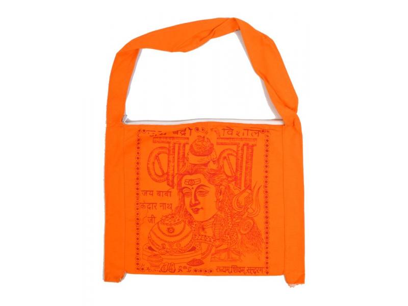 Taška - bavlna, poutnická se Šivou, oranžová